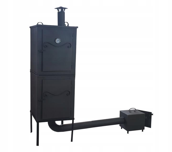 Двухъярусная металлическая коптильня 2 в1 для холодного и горячего копчения  Smoke House
