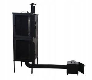 Двухъярусная металлическая коптильня 2 в1 для холодного и горячего копчения  Smoke House, фото 2