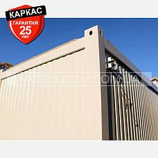 Блок-контейнер (6 х 9.6 м.), раздевалка для спортивной команды, на основе цельно-сварного металлокаркаса., фото 3