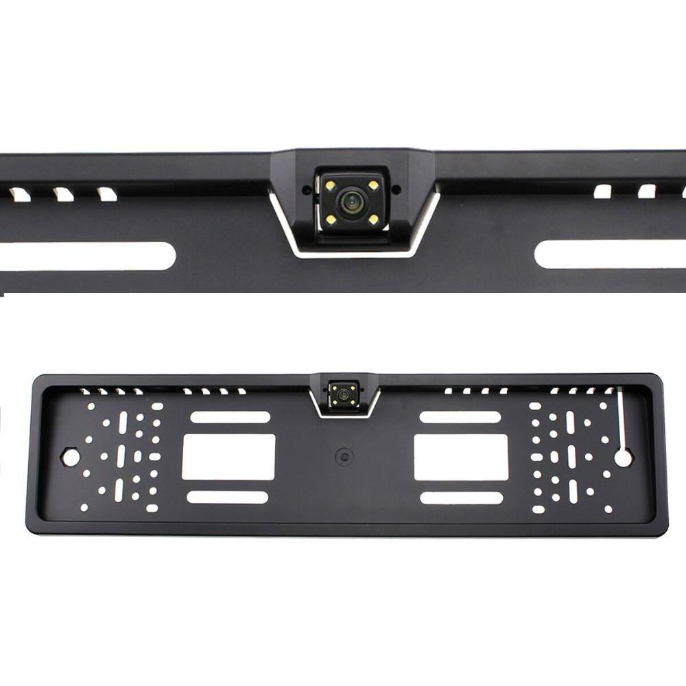 Камера заднего вида в авто номерной рамке с 16 LED подсветкой Black