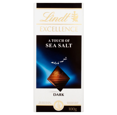 Lindt Чёрный шоколад с морской солью