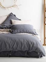 Комплект постельного белья 200x220 LIMASSO NATURAL GREY BAGCIK антрацитовый