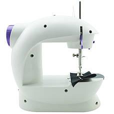 Электрическая мини швейная машинка набор с подсветкой и регулировкой скорости, фото 3