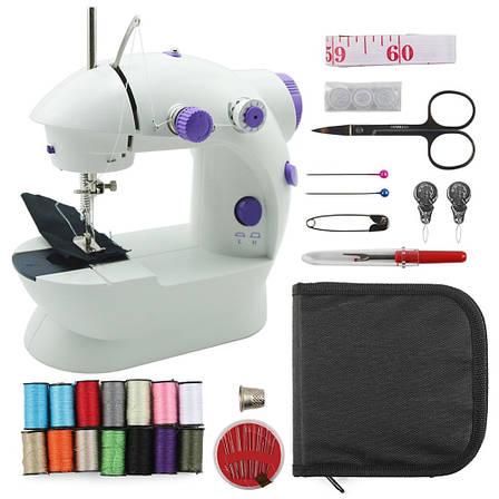 Электрическая мини швейная машинка набор с подсветкой и регулировкой скорости, фото 2