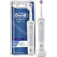 Электрическая зубная щетка Oral-B Vitality 100,  белая, 3D-White, фото 1