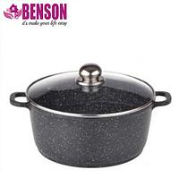 Кастрюля с мраморным антипригарным покрытием Benson BN-305 2.2 л