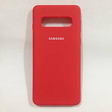 Чехол для Samsung Galaxy S10 Silione Case Red