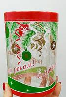Тубус прозрачный пластиковый для Новогодних подарков 100х145 мм
