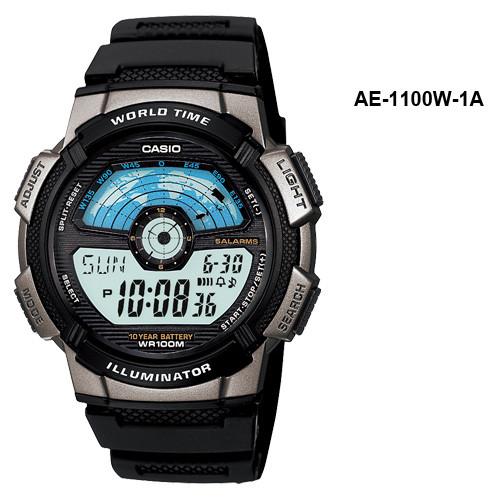 Мужские часы Casio AE-1100W-1AVEF