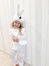 Дитячий карнавальний костюм білого Зайчика