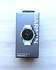 Смарт-годинник Garmin Vivoactive 3 Stainless with White Band з білим ремінцем, фото 3