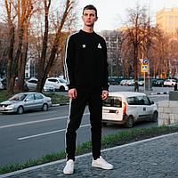 Спортивный костюм комплект теплый мужской Adidas черный
