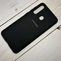 Силиконовый чехол Silicone Case Samsung Galaxy A60 (2019) Черный