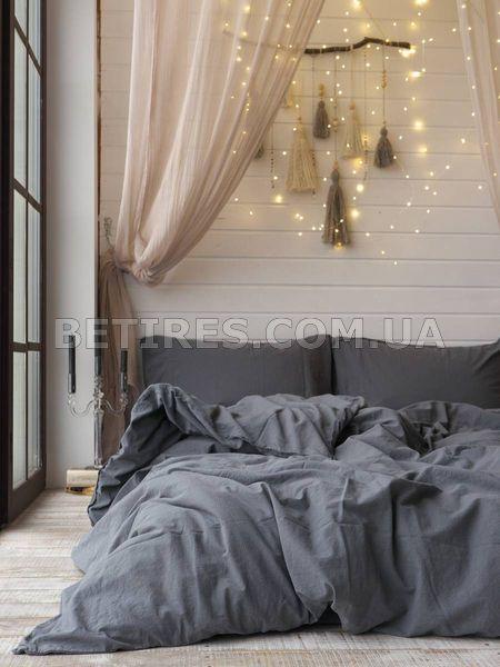 Комплект постельного белья СЕМЕЙНЫЙ LIMASSO CASTLEROCK STANDART темно-серый