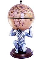 Глобус бар напольный Atlas бежевый Зодиак 42016N-WE