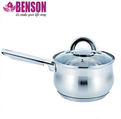 Ківш з кришкою з нержавіючої сталі Benson BN-224 1 л