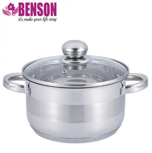 Каструля з кришкою з нержавіючої сталі Benson BN-221 6.5 л