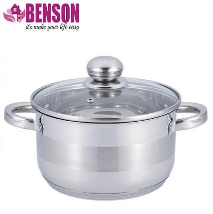 Каструля з кришкою з нержавіючої сталі Benson BN-221 6.5 л, фото 2