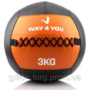 Набивной мяч (медбол) Way4you 3кг