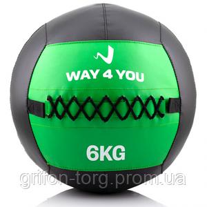 Набивной мяч (медбол) Way4you 6кг