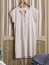 Платье женское NATURAL CREAM STONEWASHED (M) бежевое