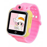 Детские умные GPS-часы Wonlex Smart Baby Watch Q200 розовые