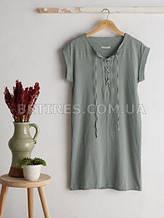 Платье женское NATURAL GREEN STONEWASHED (M) оливковое