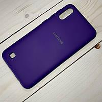 Чехол Silicone Case Samsung Galaxy A10 (2019) Фиолетовый, фото 1