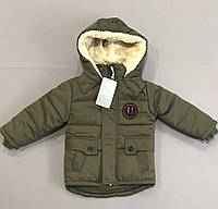 Куртка зимняя хаки на мальчика р.98 (3 года)