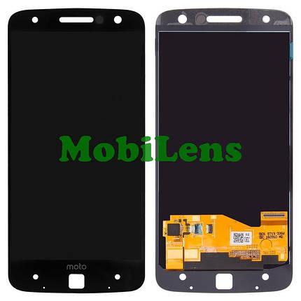 Motorola XT1650-02, Moto Z Force, TYPE:M19AE Дисплей+тачскрин(модуль) черный Original (AMOLED), фото 2