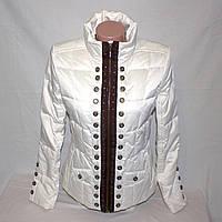 Белая куртка женская пуховик Oodji р.44-46
