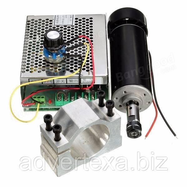 Электро шпиндель 500 Вт 12-48 В с блоком питания для ЧПУ фрезерного станка с воздушным охлаждением, ER11