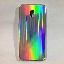 Чехол для Xiaomi Redmi 8A Holografic Silver