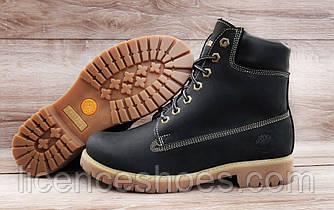 Підліткові черевики Timberland Black Натуральна шкіра та хутро