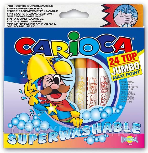 TOP JUMBO Водосмываемые фломастеры CARIOCA 41011