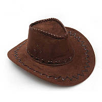 Шляпа Ковбойская велюр (темно-коричневая)