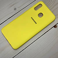Чехол Silicone Case Samsung Galaxy A30 (2019) Желтый, фото 1