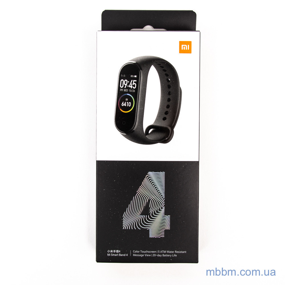 Фитнес-браслет Xiaomi Mi Band 4 [Global] Black Оригинал! (MGW4052GL) EAN/UPC: 6934177710377