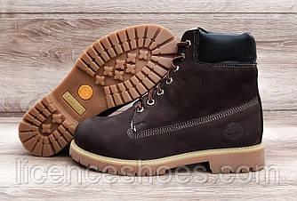 Женские коричневые зимние ботинки в стиле Timberland Brown NEW (Реплика ААА)