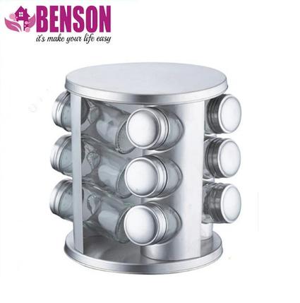 Набір банок для спецій Benson BN-176 з 12 судин, фото 2