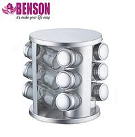 Набор баночек для специй Benson BN-176 из 12 сосудов