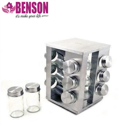 Набір банок для спецій Benson BN-174 з 12 судин, фото 2