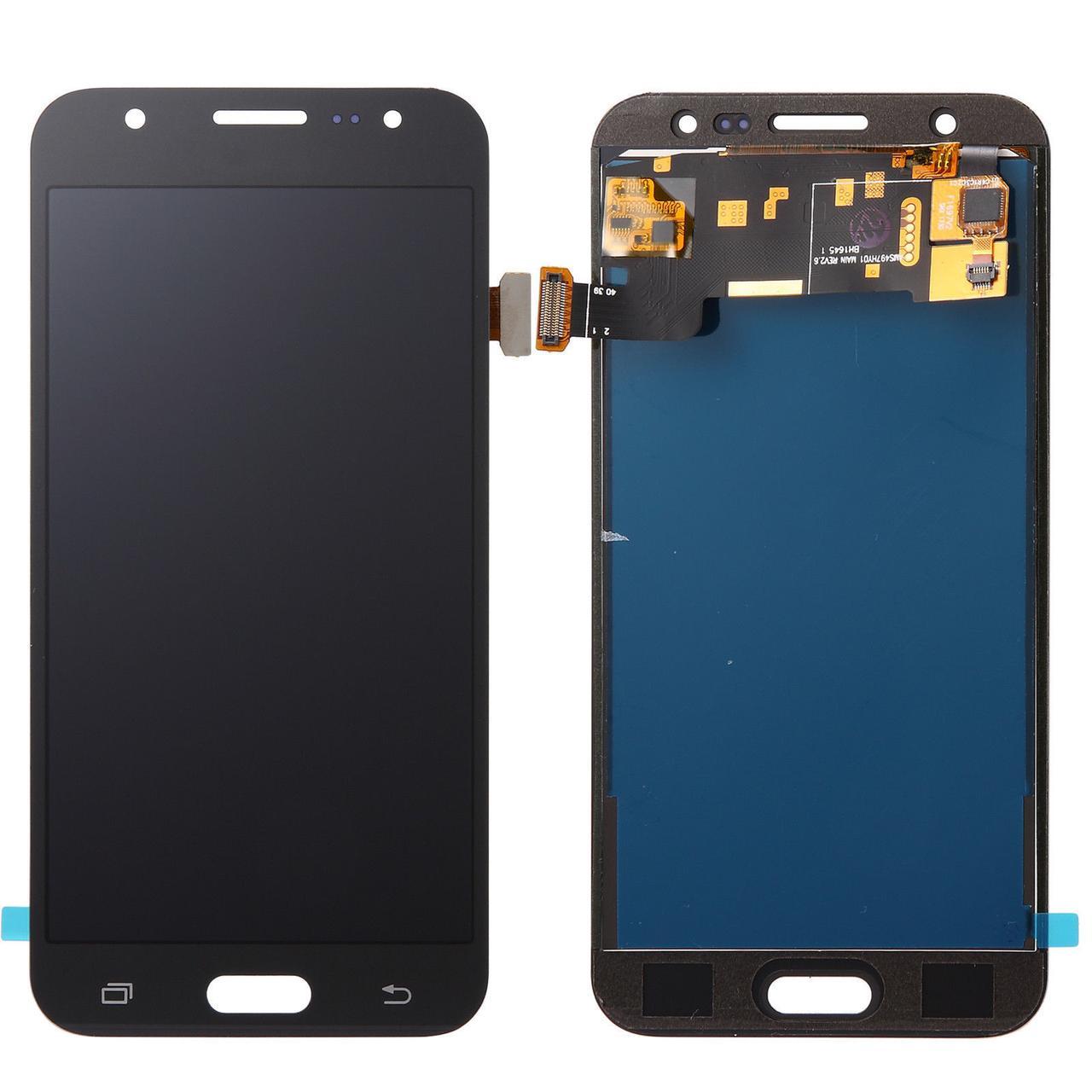 Дисплей для Samsung SM-J720H Galaxy J7 Duo (2018) с тачскриноми черный, Оригинал Amoled