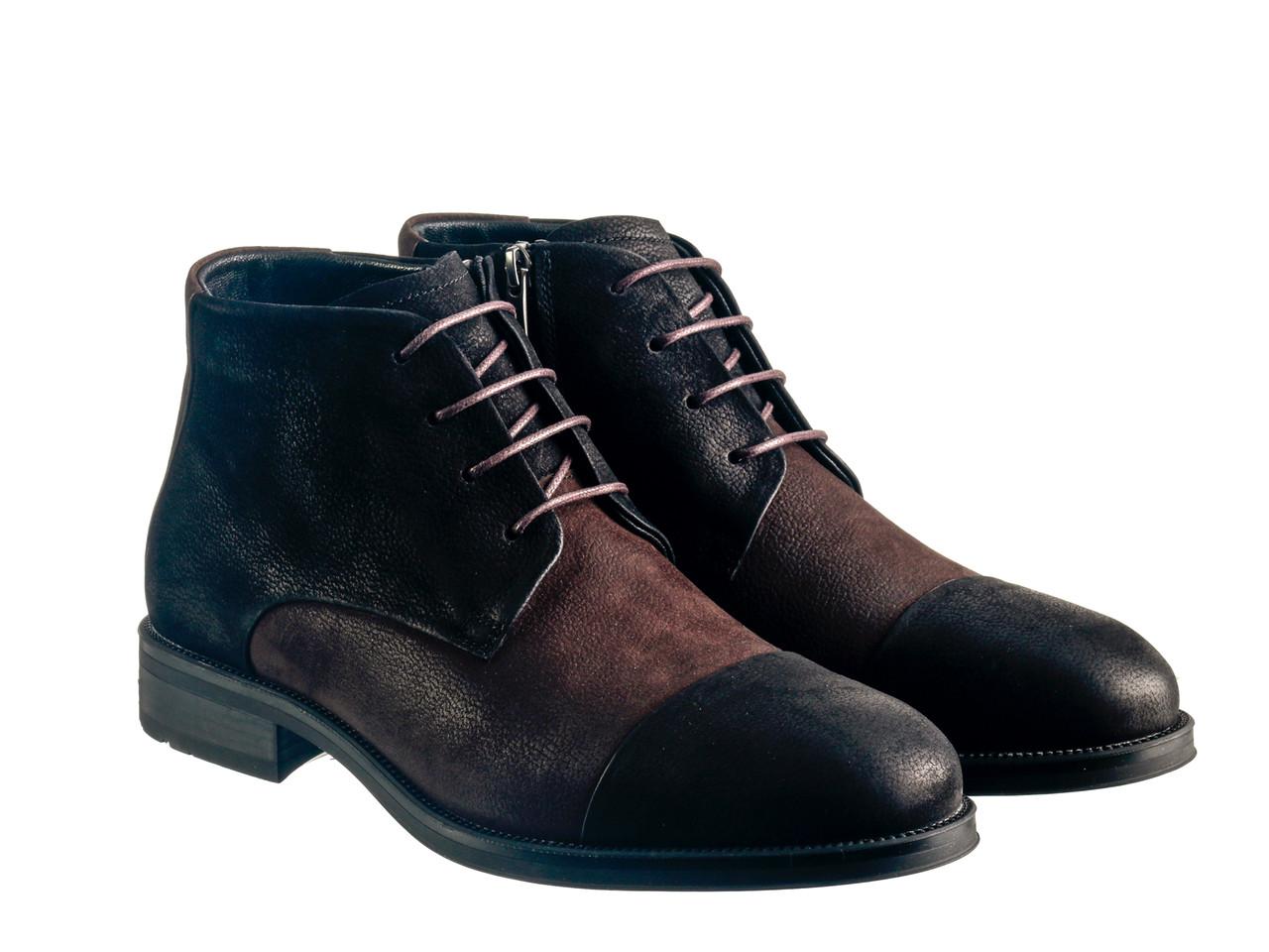 Черевики Etor 15871-10081 чорно-коричневий