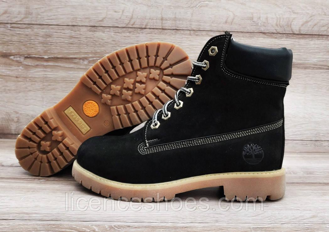 Жіночі чорні зимові черевики Timberland Black. Натуральна шкіра та хутро