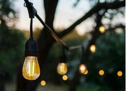 Гирлянда уличная на 5 ламп Е27 5 метров, уличная гирлянда под лампочки