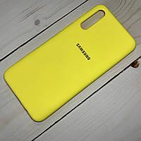 Силиконовый чехол Silicone Case Samsung Galaxy A50 (2019) Желтый