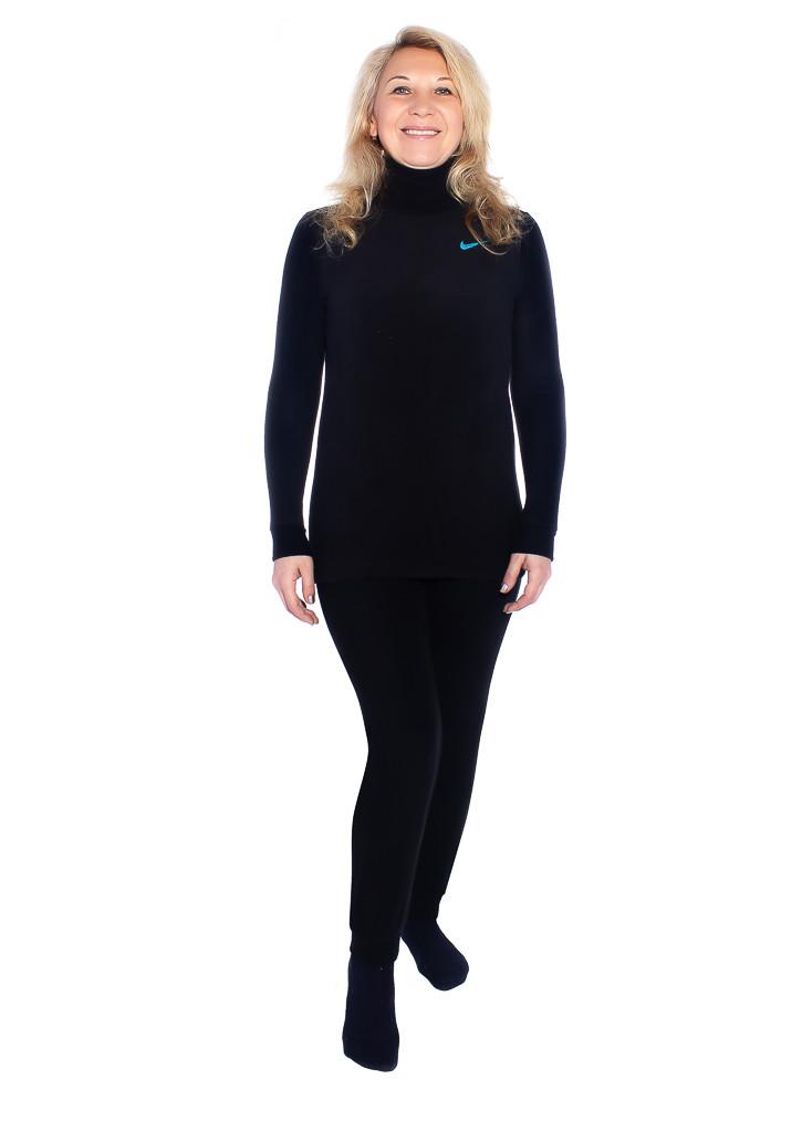 Черное женское термобелье для холодной погоды
