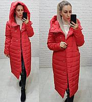 Куртка зимняя женская, арт. 180, цвет - красный