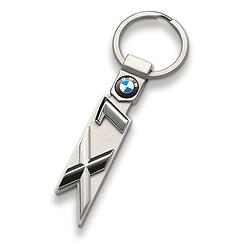 Оригинальный брелок для ключей BMW X1 Key Ring, Silver (80272454656)